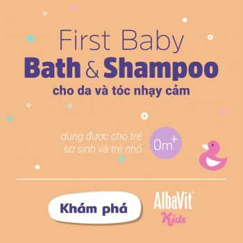 Gel tắm 2 trong 1 – Albavit Kids First Baby Bath & Shampoo